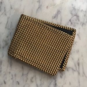 Whiting and Davis vintage gold mesh wallet